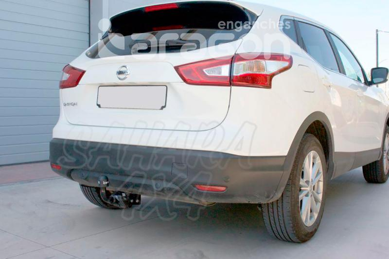 Enganche de Remolque Extraible Horizontal Nissan Qashqai 2014- - Consultar homologacion.