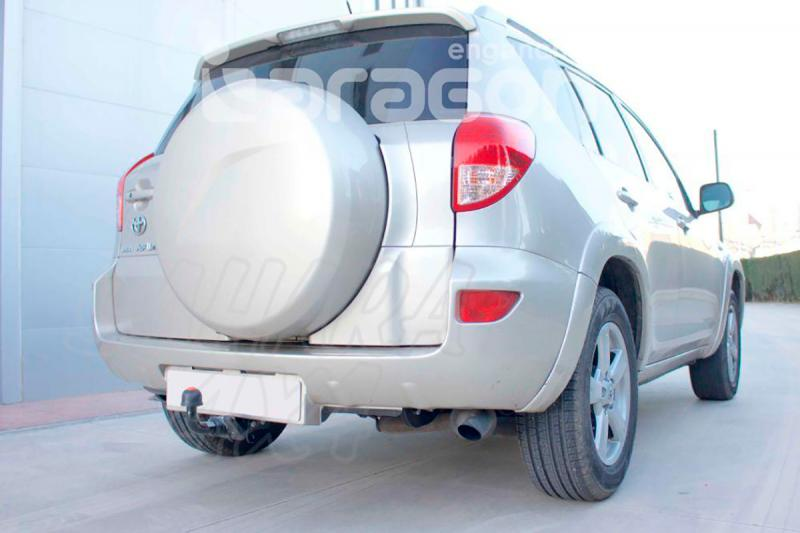 Enganche de Remolque Extraible Horizontal Toyota Rav-4 con rueda en portón 2006-2008 - Consultar homologacion.