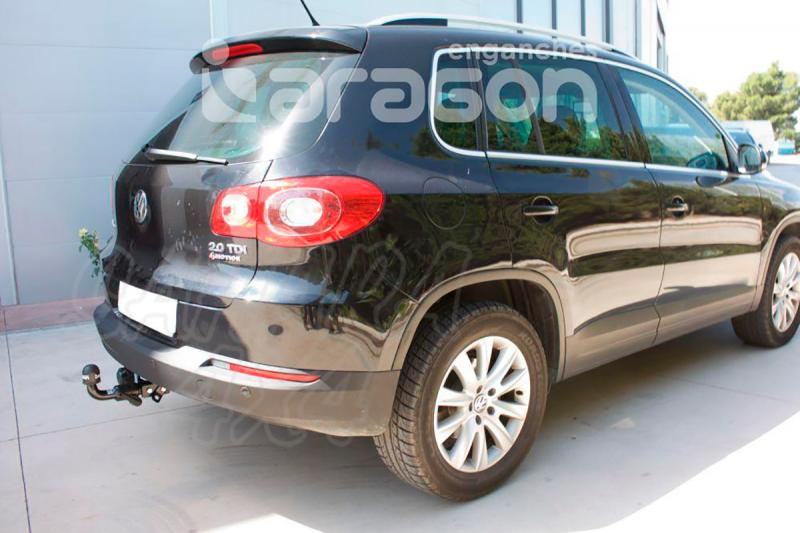 Enganche de Remolque Extraible Horizontal Volkswagen Tiguan 11/2007-4/2016 - Consultar homologacion.
