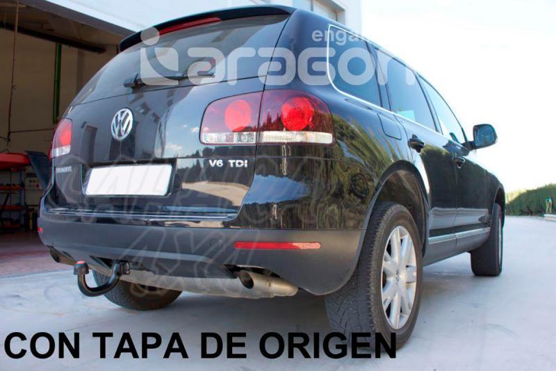 Enganche de Remolque Extraible Vertical Volkswagen Touareg 2002- - Consultar homologacion.