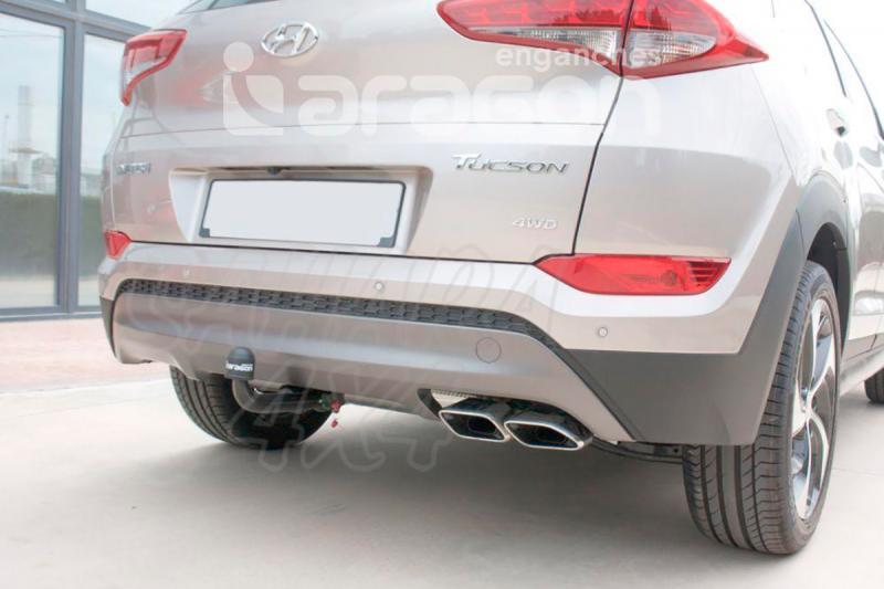Enganche de Remolque Extraible Vertical Hyundai Tucson 2015- - Consultar homologacion.