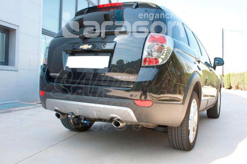 Enganche de Remolque Extraible Vertical Chevrolet Captiva sin preinstalación eléctrica 2006-2012 - Consultar homologacion.