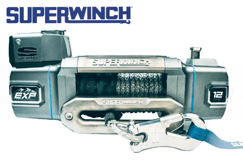 Superwinch EXP12 12.000lbs  5.400 Kg cable sintético - Cabrestante electrico a 12v
