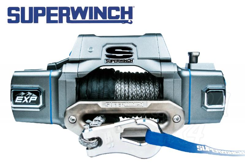 Superwinch EXPi8 8.000lbs  3.600 Kg cable sintetico - Cabrestante electrico a 12v