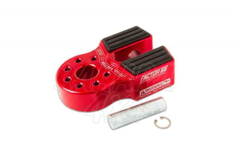 Gancho Factor 55 para cable de acero o sintetico FlatLink Rojo