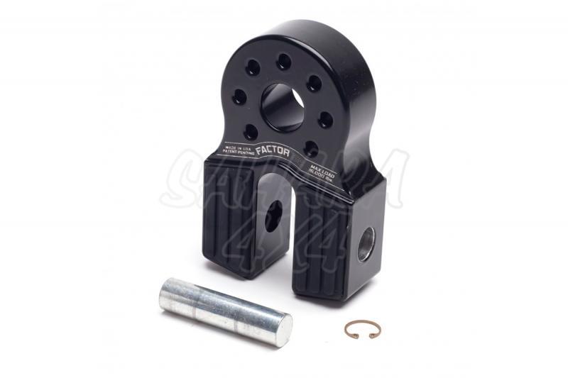 Gancho Factor 55 para cable de acero o sintetico FlatLink Gris