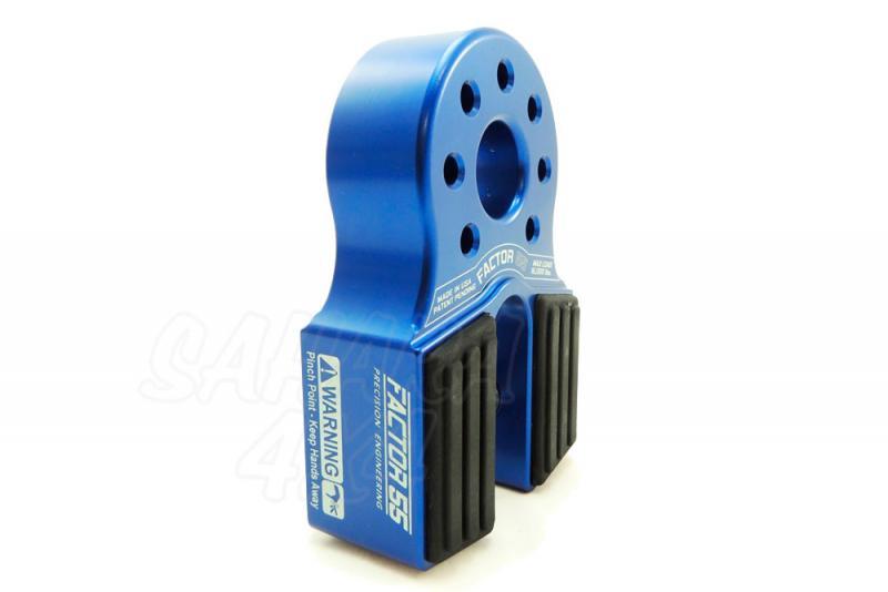 Gancho Factor 55 para cable de acero o sintetico FlatLink Azul