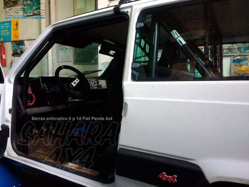 Barras Antivuelco interiores Fiat Panda 4x4 - Disponibles en 4 puntos, 6 puntos +1 diagonal y 6 puntos +1 diagonal +puertas