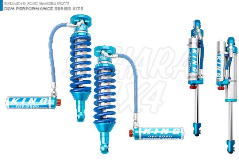 Kit 4 Amortiguadores King 2.5 Botella Separada para Ford Ranger 2012-2018
