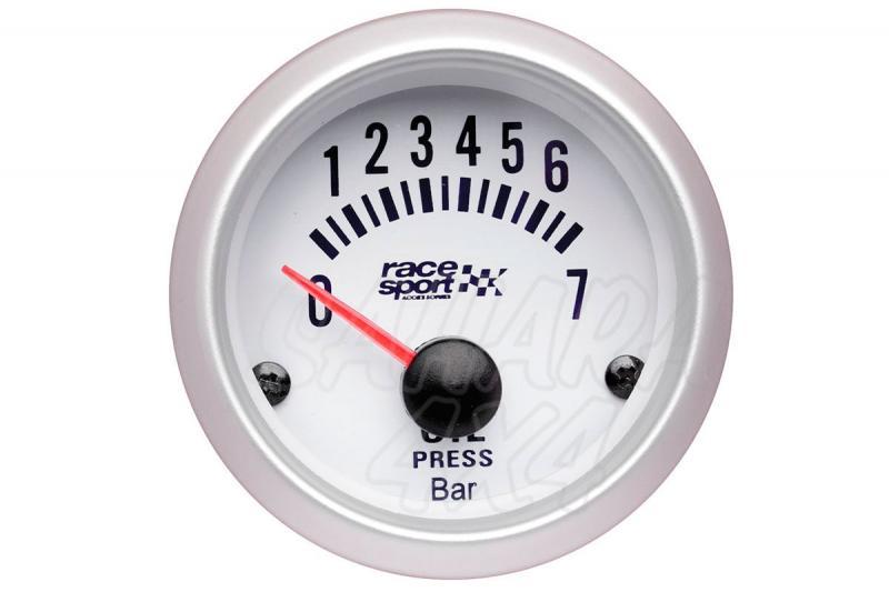 Manómetro Presión de Aceite Race Sport - 12v / 52mm Ø