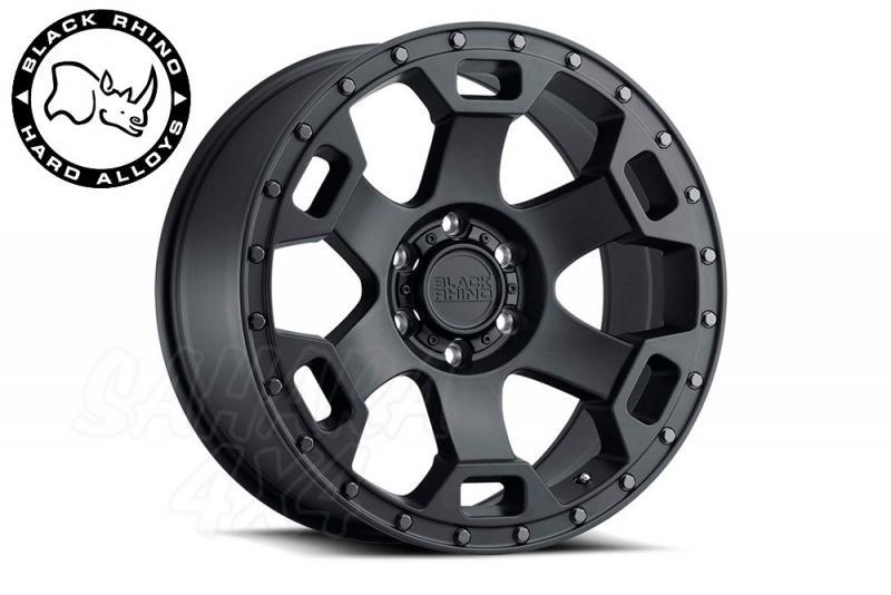 Llanta Black Rhino Gauntlet negro brillo 9x18 6x139.7 ET12 112.1 CB