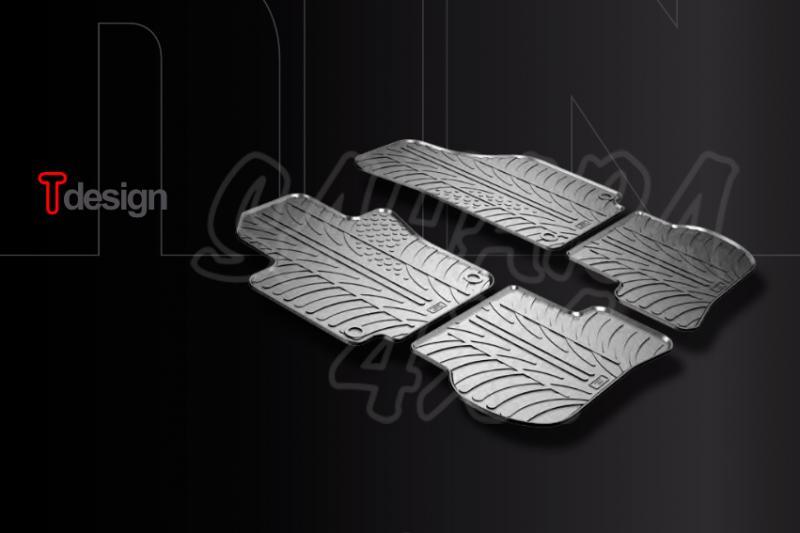 Kit Alfombras Gledring T-Desing Hyundai Santa Fe 2012- - Kit 4 piezas + fijacion