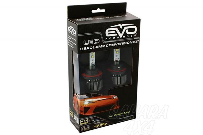 Kit de Conversión Bombillas H13 LED Evo Formance  - Sustituya sus antiguas bombillas por unas potentes de LED. Montaje fácil y rápido, no requiere ningún tipo de modificación eléctrica.
