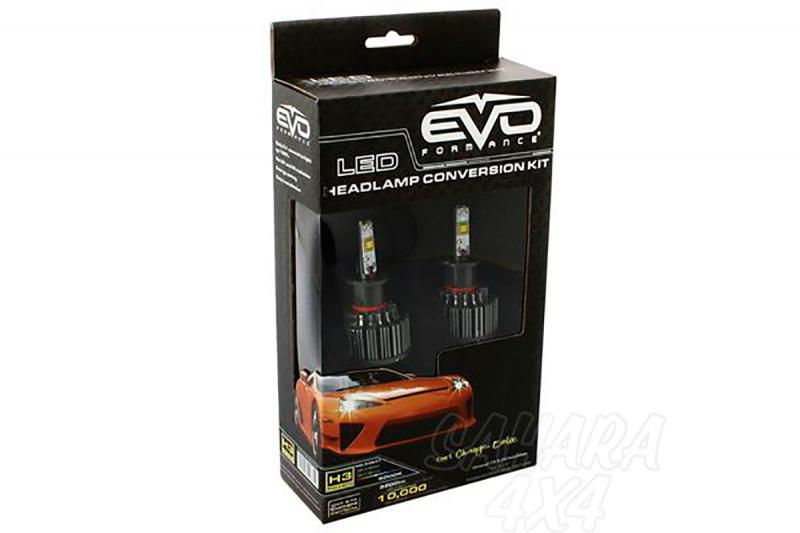 Kit de Conversión Bombillas HB3 LED Evo Formance  - Sustituya sus antiguas bombillas por unas potentes de LED. Montaje fácil y rápido, no requiere ningún tipo de modificación eléctrica.
