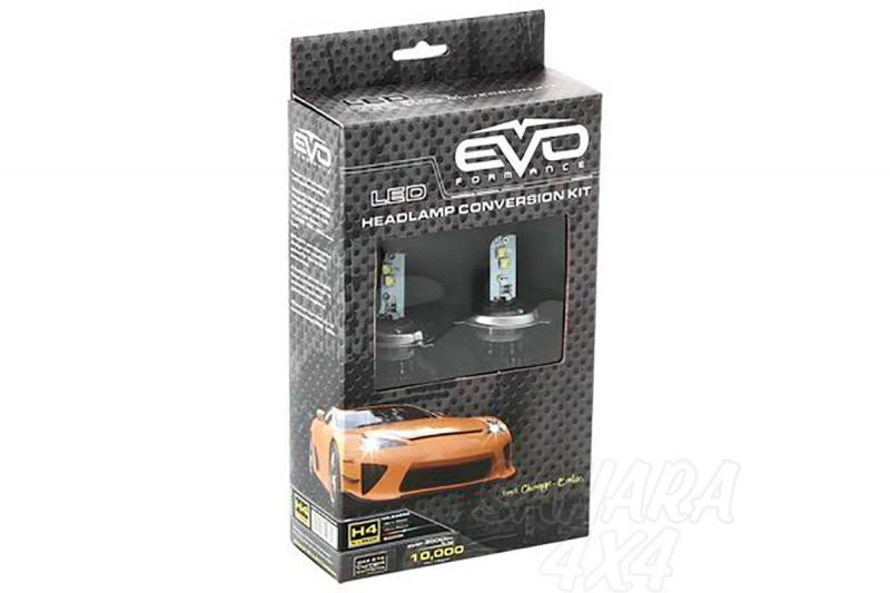 Kit de Conversión Bombillas H4 LED Evo Formance  - Sustituya sus antiguas bombillas por unas potentes de LED. Montaje fácil y rápido, no requiere ningún tipo de modificación eléctrica.