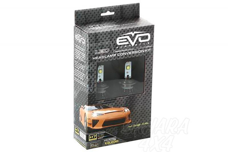 Kit de Conversión Bombillas H7 LED Evo Formance  - Sustituya sus antiguas bombillas por unas potentes de LED. Montaje fácil y rápido, no requiere ningún tipo de modificación eléctrica.