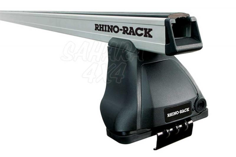 Barras Heavy Duty Rhino Rack 2500 para anclaje laterales para Toyota Hilux 1997-2005 - Kit de barras para techo, carga máxima 75Kg (por barra)