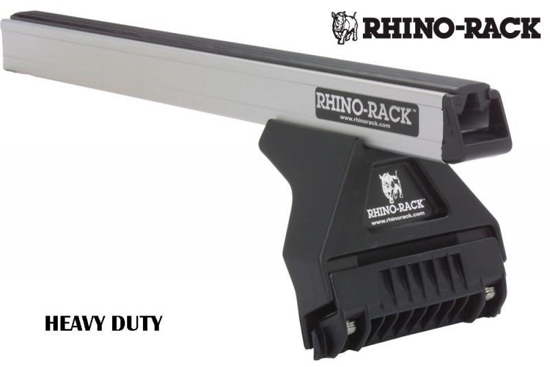 Barras Rhino Rack Heavy Duty para Nissan Patrol GR Y61 (1997-) - Kit de barras para vierteaguas, carga máxima 100Kg (por barra)