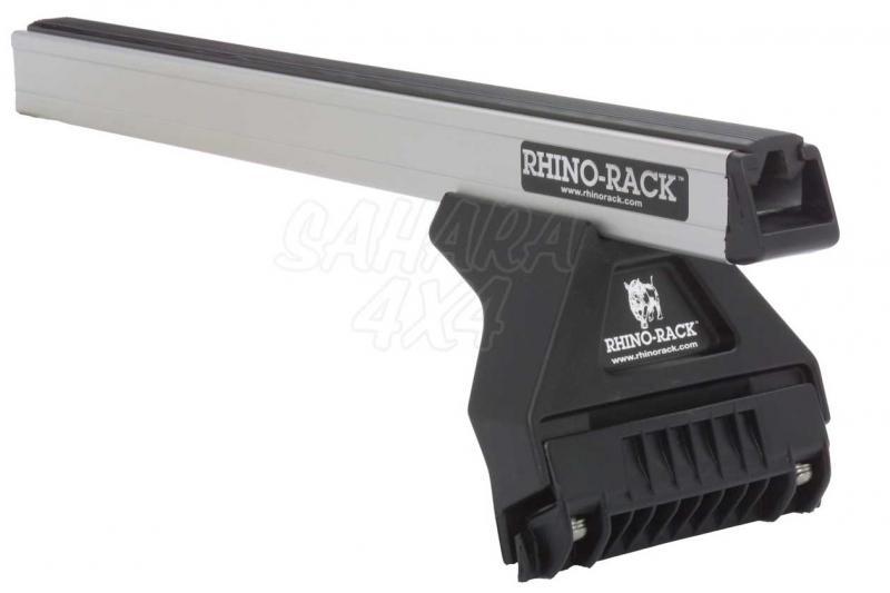 Barras Rhino Rack Heavy Duty para Toyota Land Cruiser HDJ80 1992-1998 - Kit de barras para vierteaguas, carga máxima 100Kg (por barra)