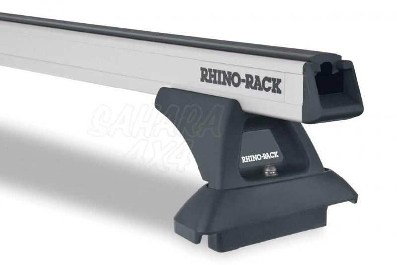 Barras Rhino Rack Heavy Duty para Toyota Land Cruiser HDJ 200 [2008-] - Kit de barras para techo, carga máxima 150Kg (por barra)