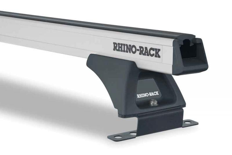 Barras Rhino Rack Heavy Duty para JEEP Grand Cherokee WK24 con railes de techo metalico 02/11 to 04/ - Kit de barras para techo, carga máxima 68Kg (por barra)