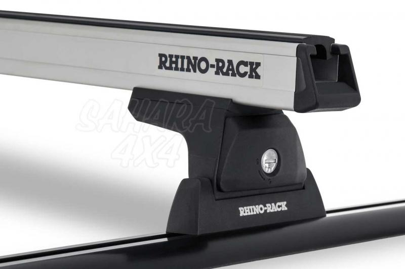 Barras Rhino Rack Heavy Duty RLT600 para Nissan Navara D23 (2015-) - Kit de barras para Techo, carga máxima 100Kg (por barra)