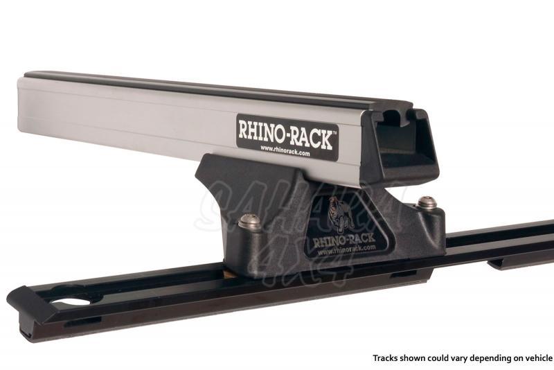 Barras Rhino Rack Heavy Duty RLTP para Mitsubishi Montero DID V80 5p LWB (2006-) - Kit de barras para techo, carga máxima 100Kg (por barra)