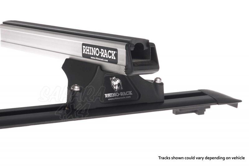 Barras Rhino Rack TERRANO II 5P - Guias para taladrar ,  4 pies y 2 barras , carga maxima 100 kg.