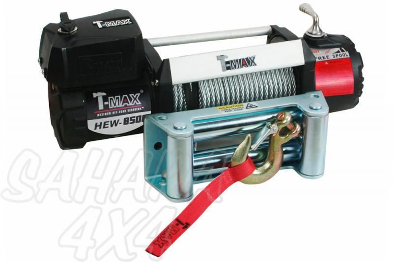 Cabestrante T-MAX X-Power HEW-12500 de 5665Kg - Caja de Reles Separada 5665 Kg de arrastre ,Cable de acero
