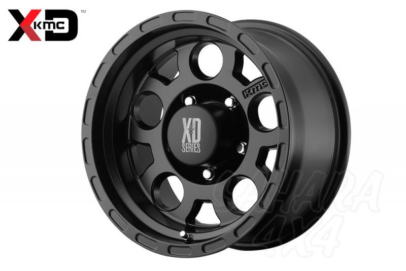 16x8 KMC XD-122 Enduro Wheel ET 0 6x139.7 Negro Mate