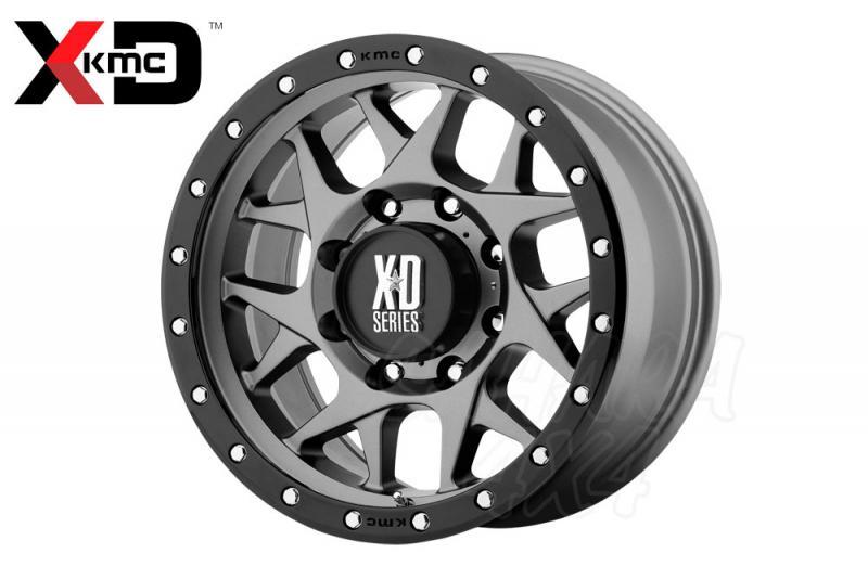 20x10 KMC XD 127 Wheel ET -24 , 5x127 Gris Mate con aro negro