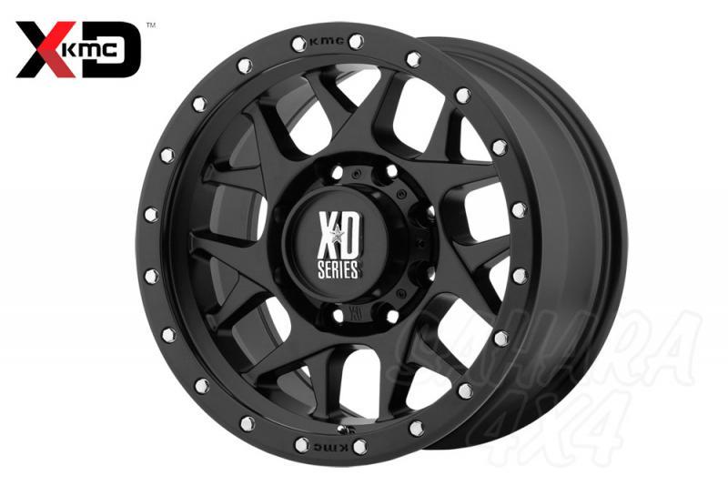 16x8 KMC XD 127 Wheel ET 0 , 6x139.7 Negro satinado