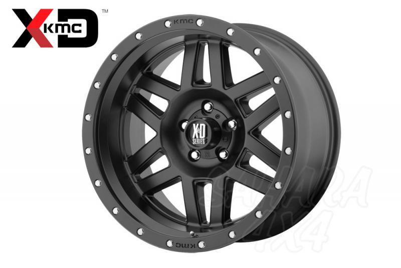 16x8 KMC XD-128 Wheel ET 0 6x139.7 Negro Mate