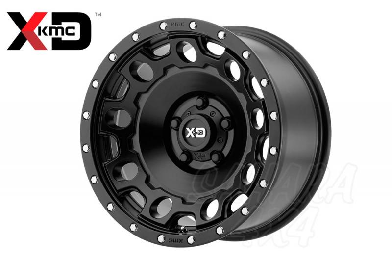 17x8.5 XD Wheel ET 34  6x114.3 Negro Satinado - Incluye tapa