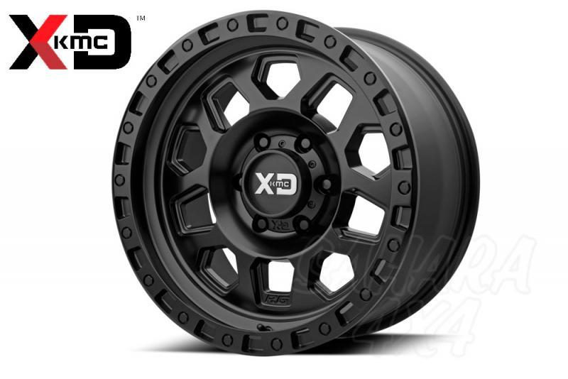 17x9 KMC Wheel XD 132 -12 , 6x139.7 Negro satinado