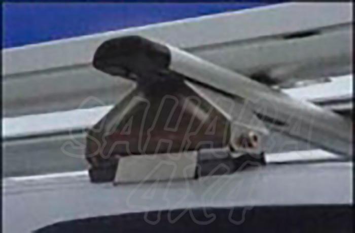Barras porta equipajes para montero V60 00-06  - Conjunto barras portantes inox./alumin Montero sin barras originales