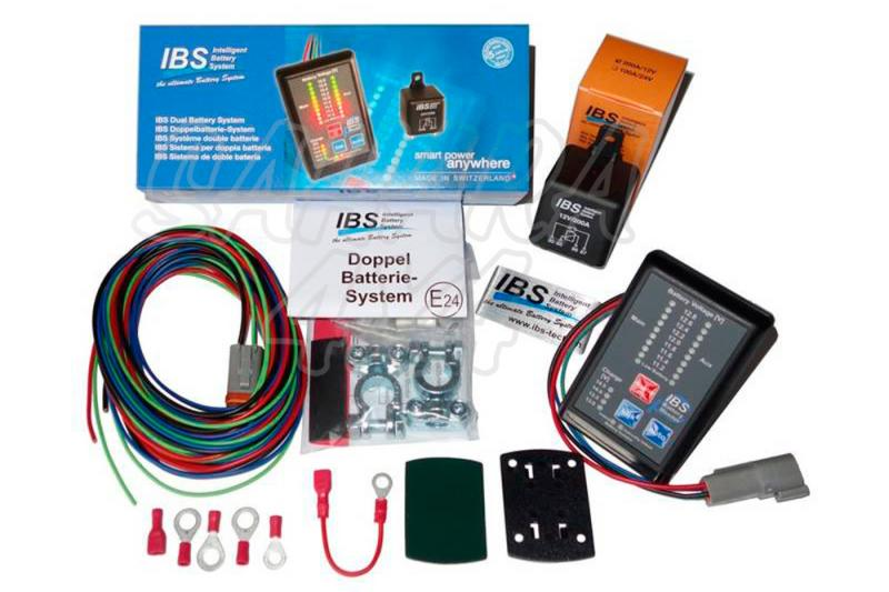 IBS, Sistema para Montar doble Bateria 200 A con monitor - Dual Battery System