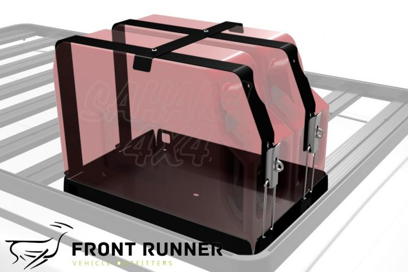 Soporte Jerrycan doble, horizontal Front Runner - Valido para Bacas Front Runner