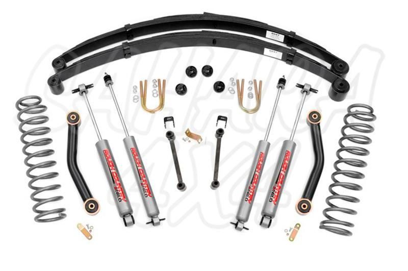 Kit Cherokee XJ +4,5 , 11.5 cm ( con ballesta europea HeavyDuty)  - Rough Country