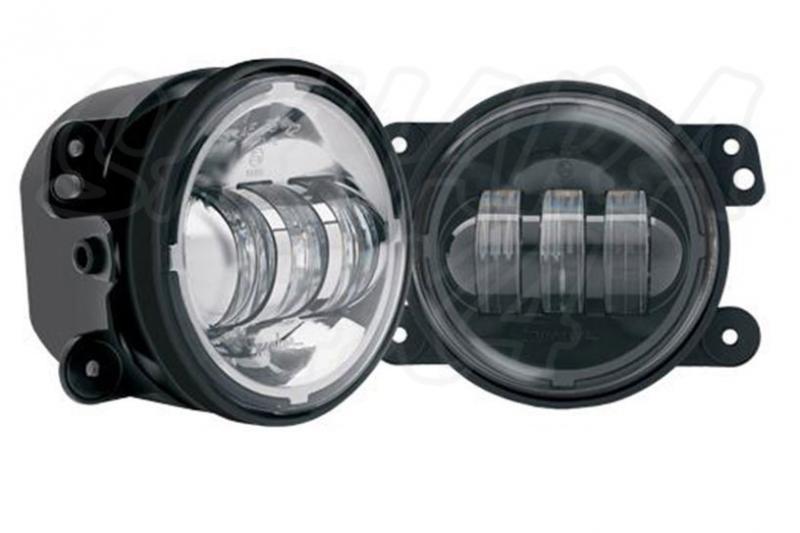 Pilotos antinieblas delanteros en LED para wrangler JK con ECE homologables - Pareja de pilotos delanteros para wrangler JK