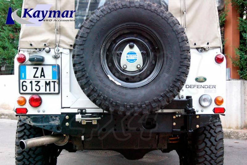 Soporte de rueda Kaymar Land Rover Defender 90/100 - Solo Soporte de Rueda trasero.