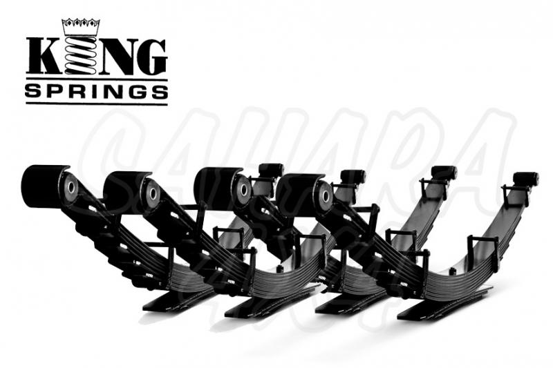Kit de Ballestas King Spring +40 mm Toyota Land Cruiser - Kit completo sin sinemblocks ni bridas.