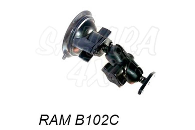 Kit brazo corto 9cm con ventosa - Soporte de brazo de 9 cm con ventosa para navegador GPS Se compone de las referencias: RAM B224-1 RAMB
