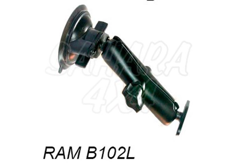 Kit brazo largo 18,6 cm con ventosa - Soporte de brazo de 18,6 cm con ventosa para navegador GPS
