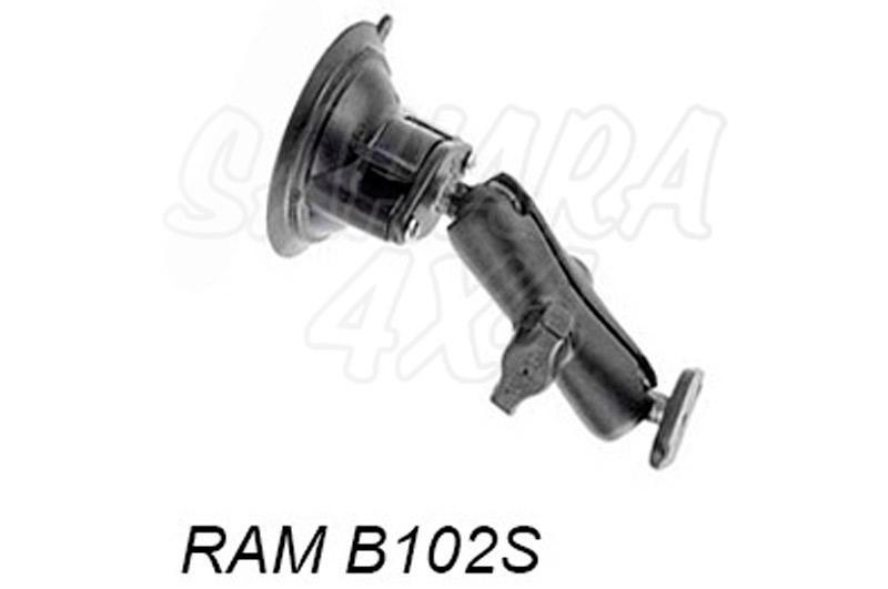 Kit brazo standard 13cm con ventosa - Soporte de brazo de 13 cm con ventosa para navegador GPS Se compone de las referencias: RAM B224-1 RAMB