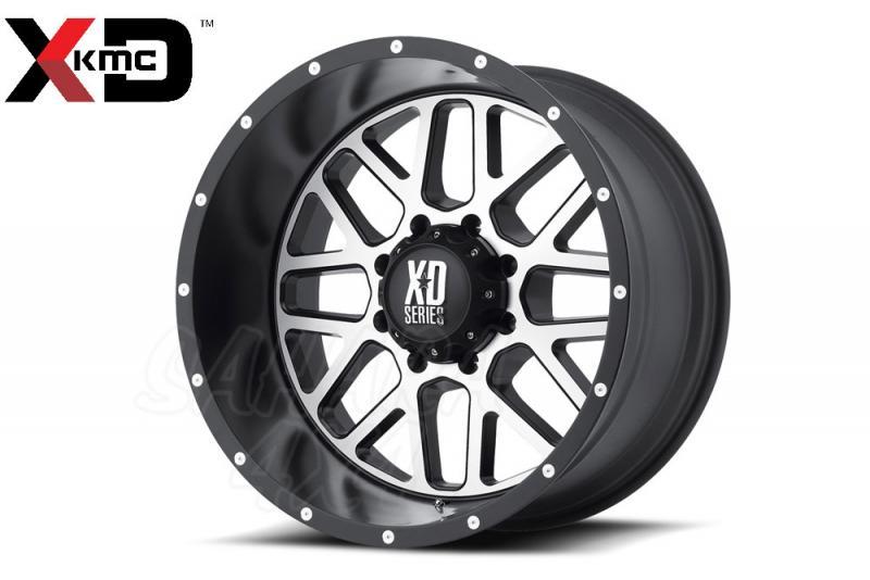 20x9 KMC XD820 Grenade Wheel ET +18, 6x139.7 Pulido/Negro