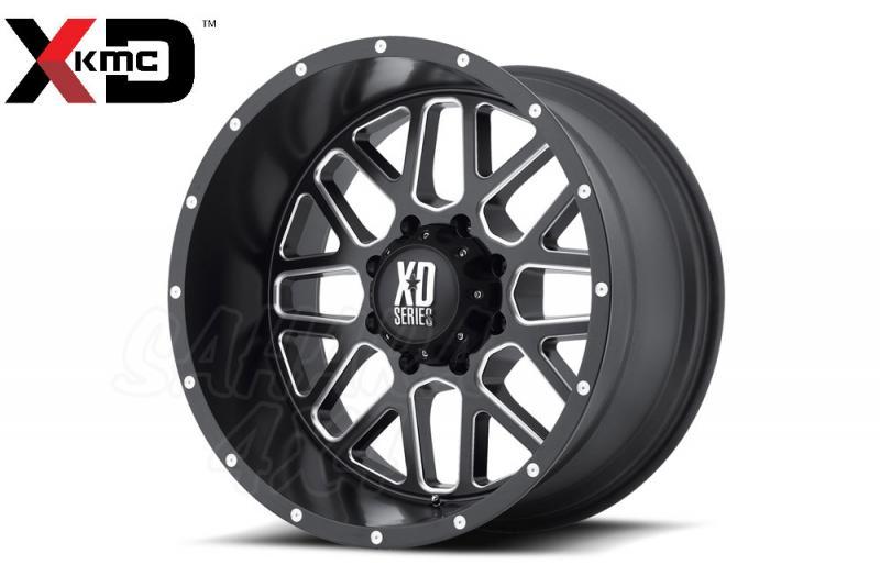 20x9 KMC XD820 Grenade Wheel ET +18, 6x139.7 Negro/aluminio