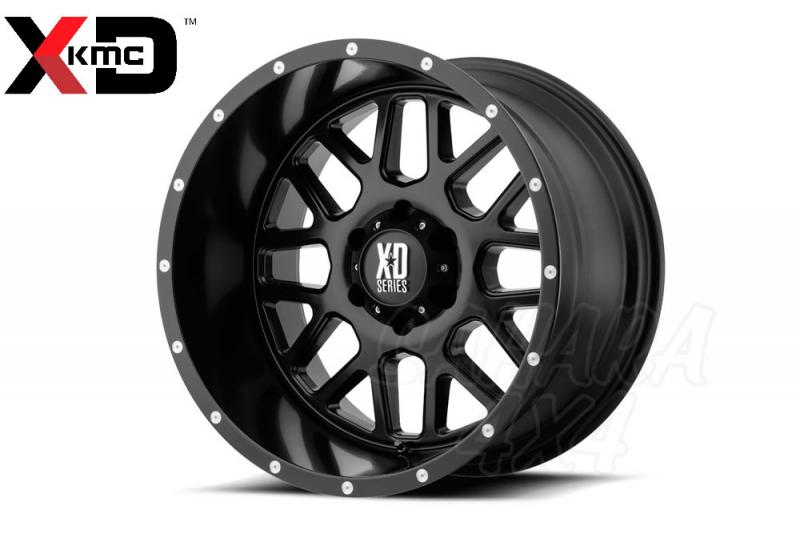 18x9 KMC XD820 Grenade Wheel ET -12 5x127 Negro Satinado