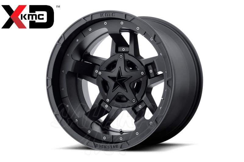 20x9 KMC XD 827 RS3 Wheel ET-12 5x127 Negro Satinado - Incluye tapa