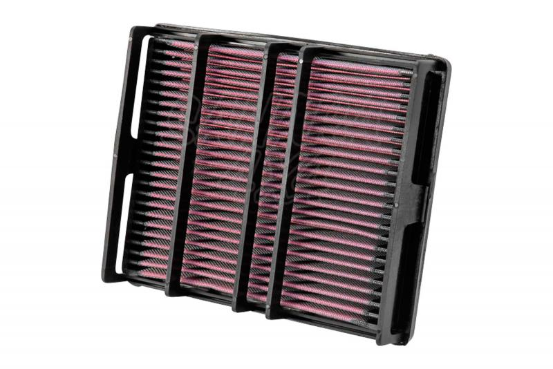 Filtro K&N Air Filter para reemplazo Toyota 4-runner/Land Cruiser - K&N 33-2054: Alto 3.3 cm x Largo 24.3 cm x Ancho 20.6 cm.